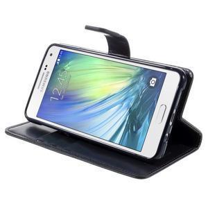 Luxusní PU kožené pouzdro na mobil Samsung Galaxy A5 (2016) - tmavěmodré - 5