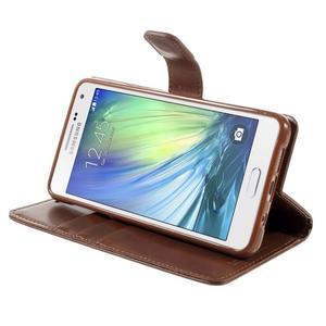 Luxusní PU kožené pouzdro na mobil Samsung Galaxy A5 (2016) - hnědé - 5