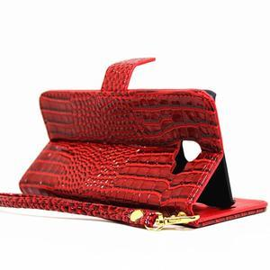 Croco peněženkové pouzdro Samsung Galaxy A5 (2016) - červené - 5