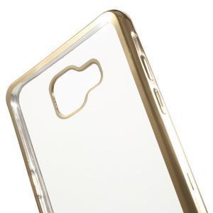 Gelový obal se zlatým lemem na mobil Samsung Galaxy A5 (2016) - 5