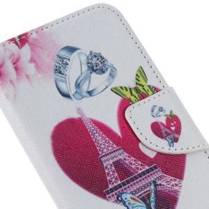 Softy peněženkové pouzdro na Samsung Galaxy A5 (2016) - srdce Eiffel - 5