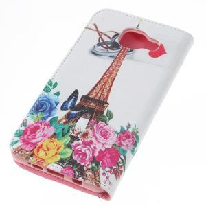 Softy peněženkové pouzdro na Samsung Galaxy A5 (2016) - Eiffelka a květiny - 5