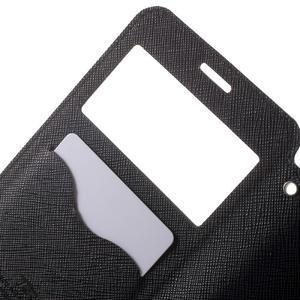 Peněženkové pouzdro s okýnkem na Samsung Galaxy A5 (2016) - černé - 5