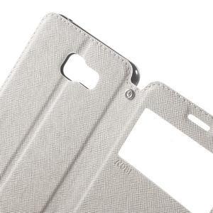 Peněženkové pouzdro s okýnkem na Samsung Galaxy A5 (2016) - bílé - 5
