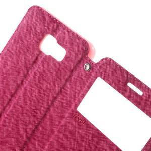 Peněženkové pouzdro s okýnkem na Samsung Galaxy A5 (2016) - rose - 5
