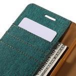 Canvas PU kožené/textilní pouzdro na Samsung Galaxy A5 (2016) - zelelné - 5/7