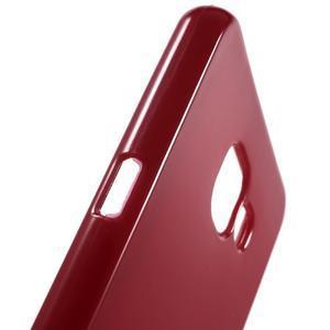 Jelly lesklý pružný obal na Samsung Galaxy A5 (2016) - červený - 5