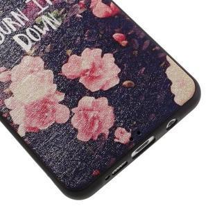 Gelový obal s koženkovým vzorem na Samsung Galaxy A5 (2016) - růže - 5