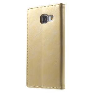 Moon PU kožené pouzdro na Samsung Galaxy A5 (2016) - zlaté - 5