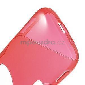 Červený s-line gelový kryt na Samsung Galaxy K Zoom C115 - 5