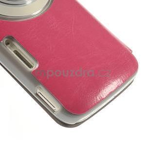 Růžové peněženkové pouzdro na Samsung Galaxy K Zoom C115 - 5