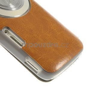 Oranžové peněženkové pouzdro na Samsung Galaxy K Zoom C115 - 5