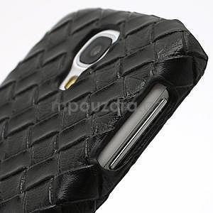 PU kožené pouzdro na Samsung Galaxy S4 - černé - 5
