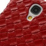 PU kožené puzdro pre Samsung Galaxy S4 - červené - 5/6