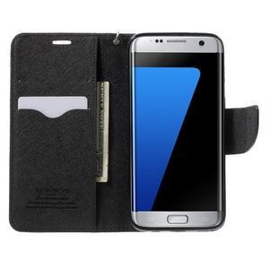 Mercury Orig PU kožené pouzdro na Samsung Galaxy S7 Edge - černé - 5