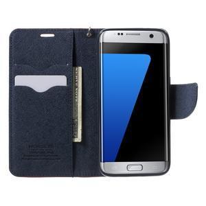 Mercury Orig PU kožené pouzdro na Samsung Galaxy S7 - červené - 5