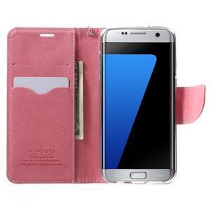 Mercury Orig PU kožené pouzdro na Samsung Galaxy S7 Edge - rose - 5