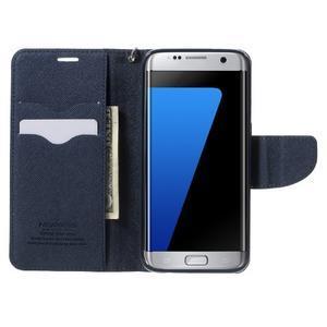 Mercury Orig PU kožené pouzdro na Samsung Galaxy S7 Edge - azurové - 5
