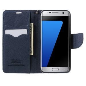 Mercury Orig PU kožené pouzdro na Samsung Galaxy S7 Edge - fialové - 5