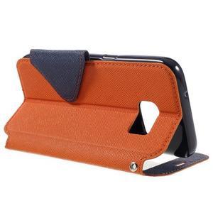 Diary pouzdro s okýnkem na Samsung Galaxy S7 - oranžové - 5