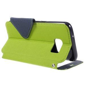 Diary pouzdro s okýnkem na Samsung Galaxy S7 - zelené - 5