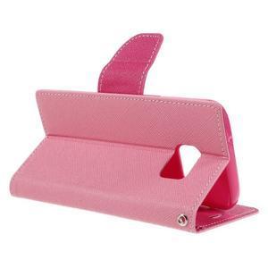 Goosper PU kožené pouzdro na Samsung Galaxy S7 - růžové - 5