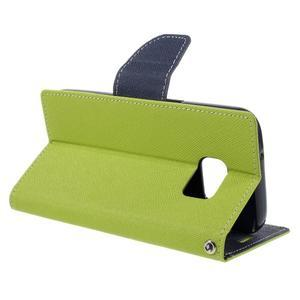 Goosper PU kožené pouzdro na Samsung Galaxy S7 - zelené - 5
