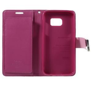 Luxury PU kožené pouzdro na Samsung Galaxy S7 - rose - 5