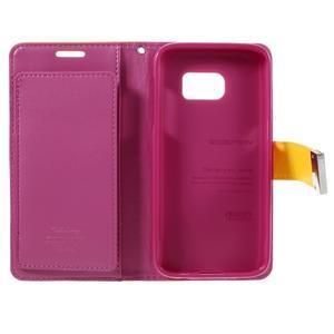 Luxury PU kožené pouzdro na Samsung Galaxy S7 - žluté - 5