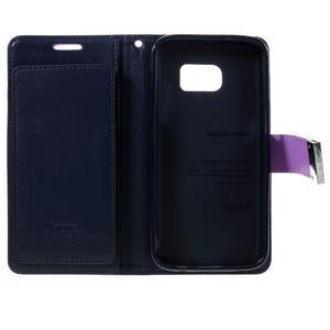 Luxury PU kožené pouzdro na Samsung Galaxy S7 - fialové - 5