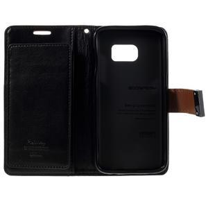 Luxury PU kožené pouzdro na Samsung Galaxy S7 - hnědé - 5