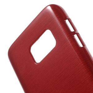 Brush gelový obal na mobil Samsung Galaxy S7 - červený - 5