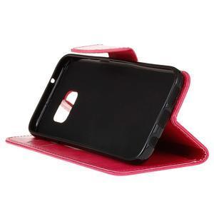 Stand peněženkové pouzdro na Samsung Galaxy S7 - rose - 5