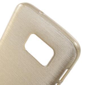 Brush gelový obal na mobil Samsung Galaxy S7 - zlatý - 5