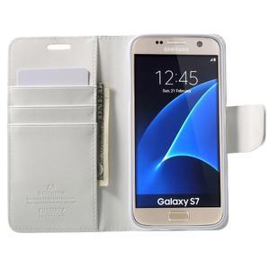 Sonata PU kožené pouzdro na Samsung Galaxy S7 - bílé - 5