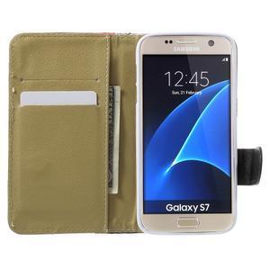 Flower pouzdro na mobil Samsung Galaxy S7 - modré pozadí - 5