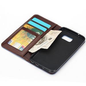 Jeans pouzdro na mobil Samsung Galaxy S7 edge - černomodré - 5