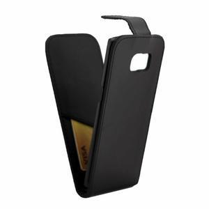 Flipové pouzdro na mobil Samsung Galaxy S7 edge - černé - 5