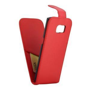 Flipové pouzdro na mobil Samsung Galaxy S7 edge - červené - 5