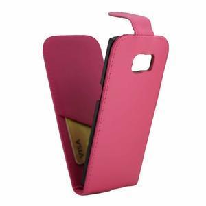 Flipové pouzdro na mobil Samsung Galaxy S7 edge - rose - 5