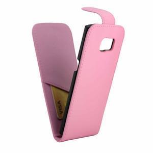 Flipové pouzdro na mobil Samsung Galaxy S7 edge - růžové - 5