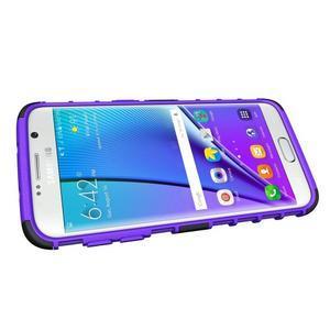 Odolný outdoor kryt na Samsung Galaxy S7 edge - fialový - 5