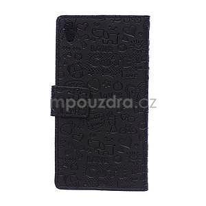 Černé texturované pouzdro na Sony Xperia M4 Aqua - 5