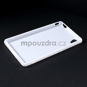 Bílý gelový obal na Sony Xperia M4 Aqua - 5