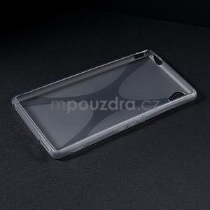 Šedý gelový obal na Sony Xperia M4 Aqua - 5