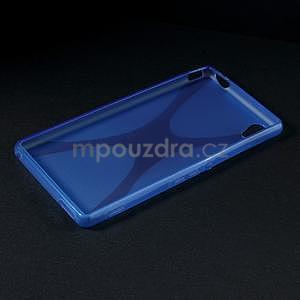 Modrý gelový obal na Sony Xperia M4 Aqua - 5