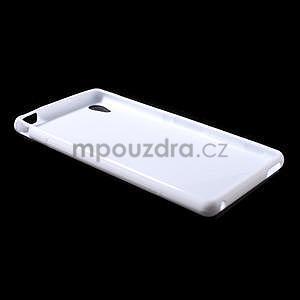 Bílý s-line pružný obal na Sony Xperia M4 Aqua - 5