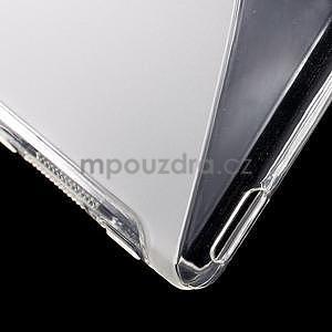 Transparentní s-line pružný obal na Sony Xperia M4 Aqua - 5