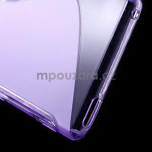 Fialový s-line pružný obal na Sony Xperia M4 Aqua - 5