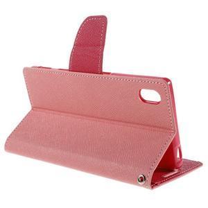 Mercur peněženkové pouzdro na Sony Xperia Z5 - růžové - 5